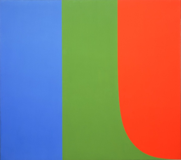 "Ellsworth Kelly's ""Red Blue Green."" 1963, Oil on Canvas."